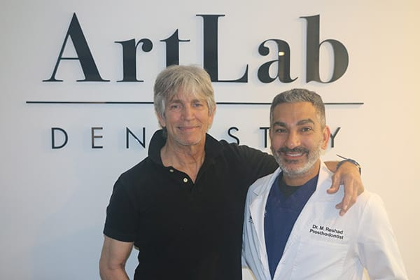Actor Eric Roberts with Dr. Mamaly Reshad of ArtLab Dentistry