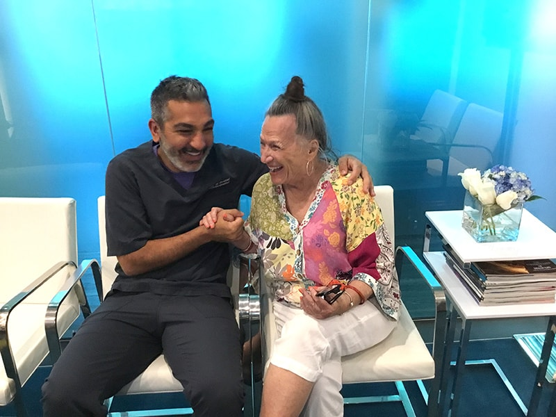 Dr. Mamaly Reshad with ArtLab Dentistry patient