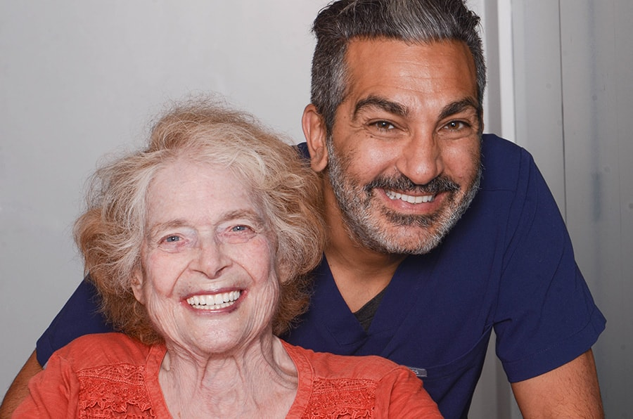 Dr. Reshad with Dr. Libby, Patient